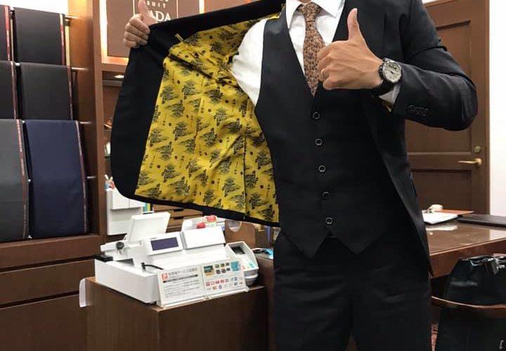 NHKさんとのコラボで、放送再開した大河ドラマ「麒麟がくる」裏地のオーダースーツを販売することになりました!