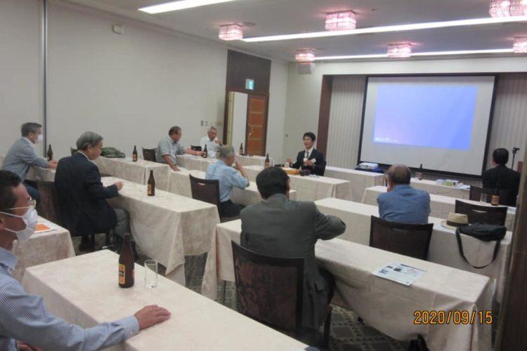 我が母校のOB会「如水会」大阪支部にて講演!