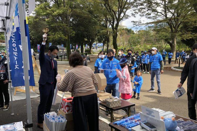 弊社が公式オーダースーツをご提供する横浜FCさんのホーム・ニッパツ三ツ沢球技場にて、SADAブースを出させて頂きました!