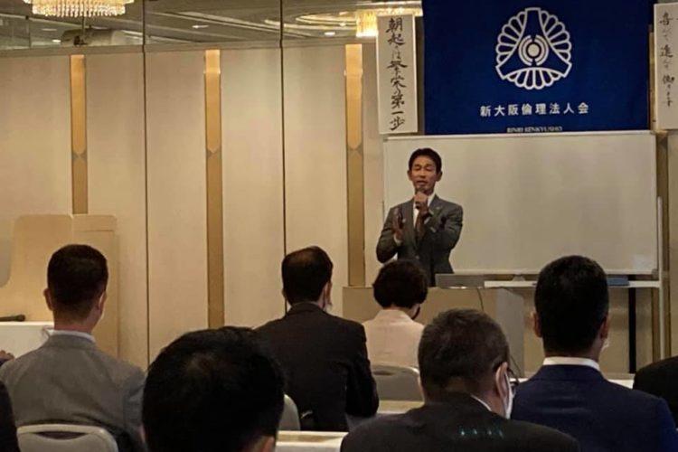 今朝は、新大阪倫理法人会のモーニングセミナーにて、講話をさせて頂きました!