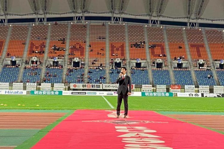 今シーズンより公式オーダースーツを提供するロアッソ熊本さんが、ホームゲームをサンクスマッチとして開催して下さいました!