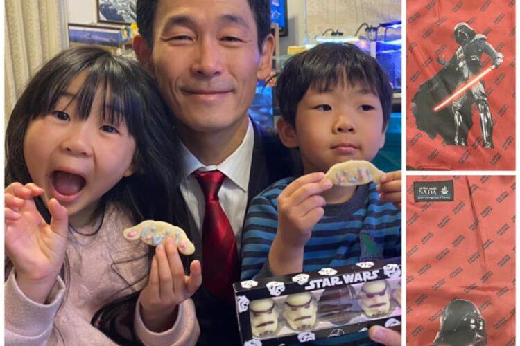 昨日はバレンタインデー!妻と娘から、手作りクッキーとダースベーダー&ストームトルーパーのチョコレートを貰いました!