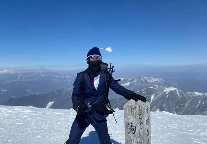 SADAのオーダースーツで、厳冬期の木曽駒ケ岳に挑んで参りました!