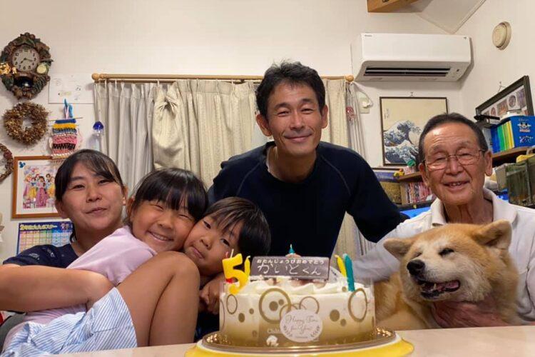 先週ですが、下の海斗の5歳の誕生日会をやりました!