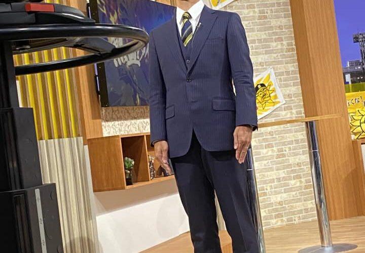 昨夜、サンテレビさんの「熱血!タイガース党に、SADA製タイガーススーツを着て、出演させて頂きました!