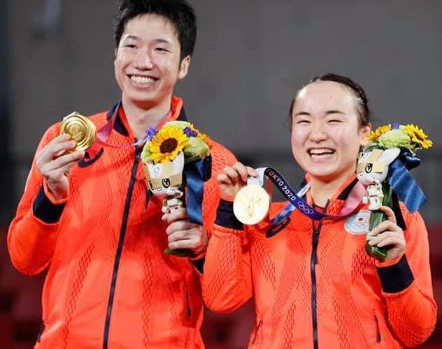 水谷隼選手、伊藤美誠選手、金メダル獲得、本当におめでとうございます!